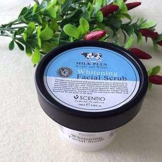 🚚 Scentio Milk Plus Whitening Q10 Facial Scrub