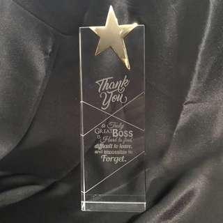 🚚 Plaque Crystal Trophy