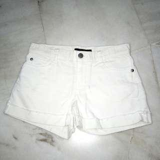 (new) white denim short