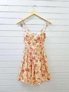 Floral Padded Dress