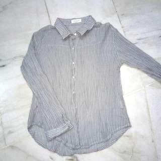 striped shirt outerwear