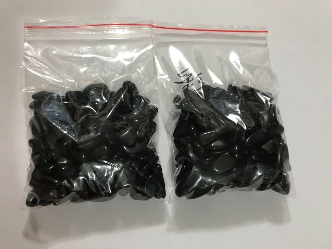 帶彩黑曜石碎石(6-8/8-12mm) 包平郵 $50@200g