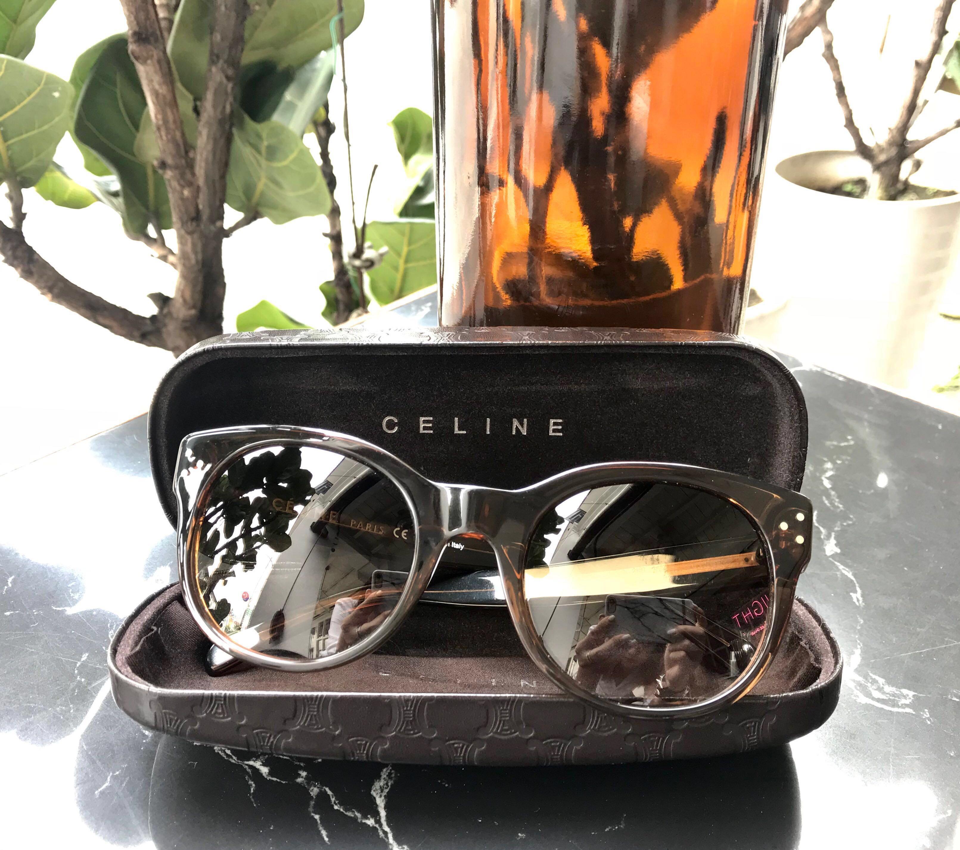30fa96d7366 💫  Authentic  Celine Audrey Sunglasses Brown