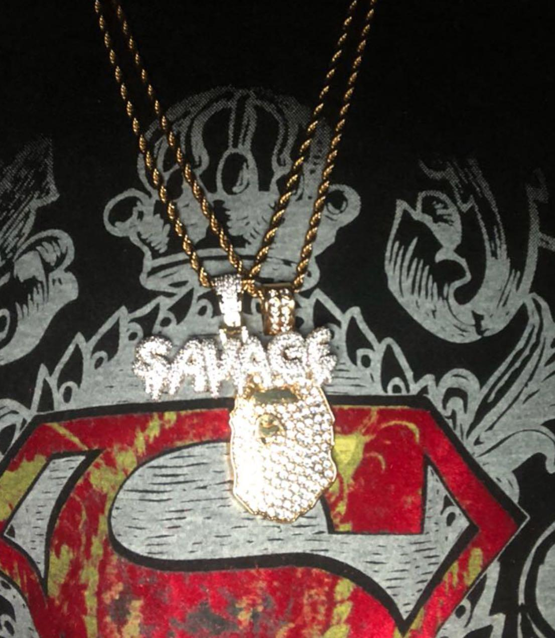 ❗️ PROMOTION ICY SAVAGE PENDANT + FREE 24 INCH ROPE CHAIN