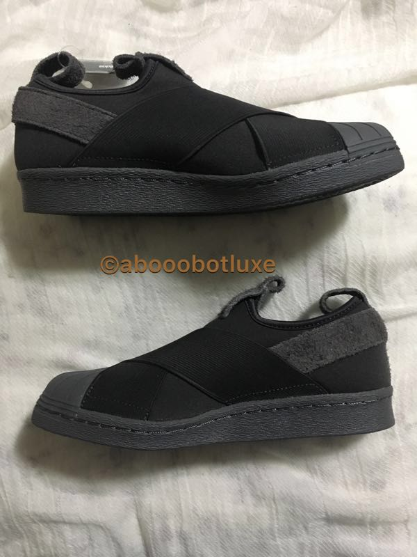 530bfd425 ADIDAS ORIGINALS SUPERSTAR SLIP ON UTILITY BLACK GREY SNEAKERS ...