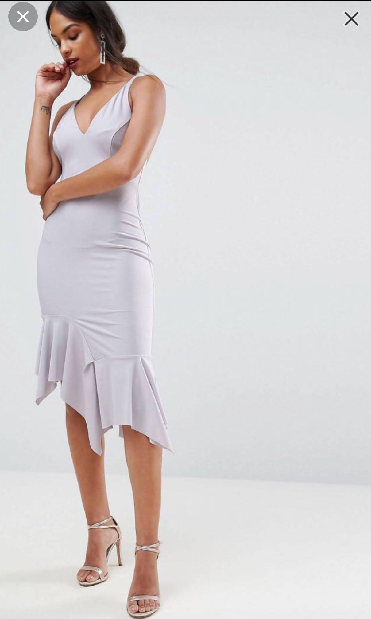 7b012ef7b40 Asos lilac midi dress