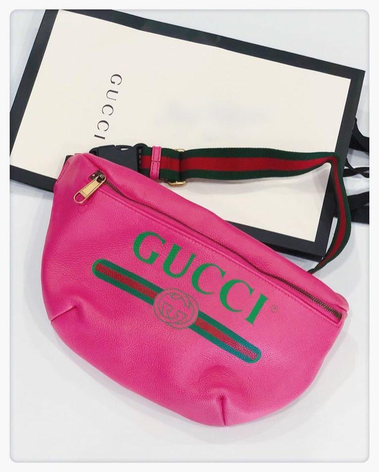 0a8869ec2053 BNIB Gucci Printed Leather Belt Bag, Luxury, Bags & Wallets ...
