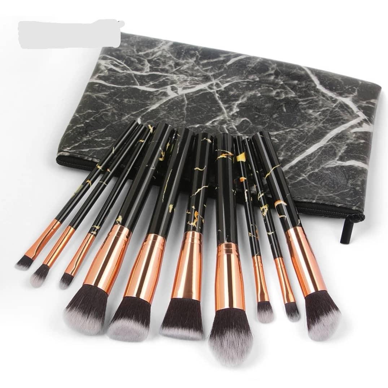 Brand New Womens Fashion Black Marble Makeup Kits $30