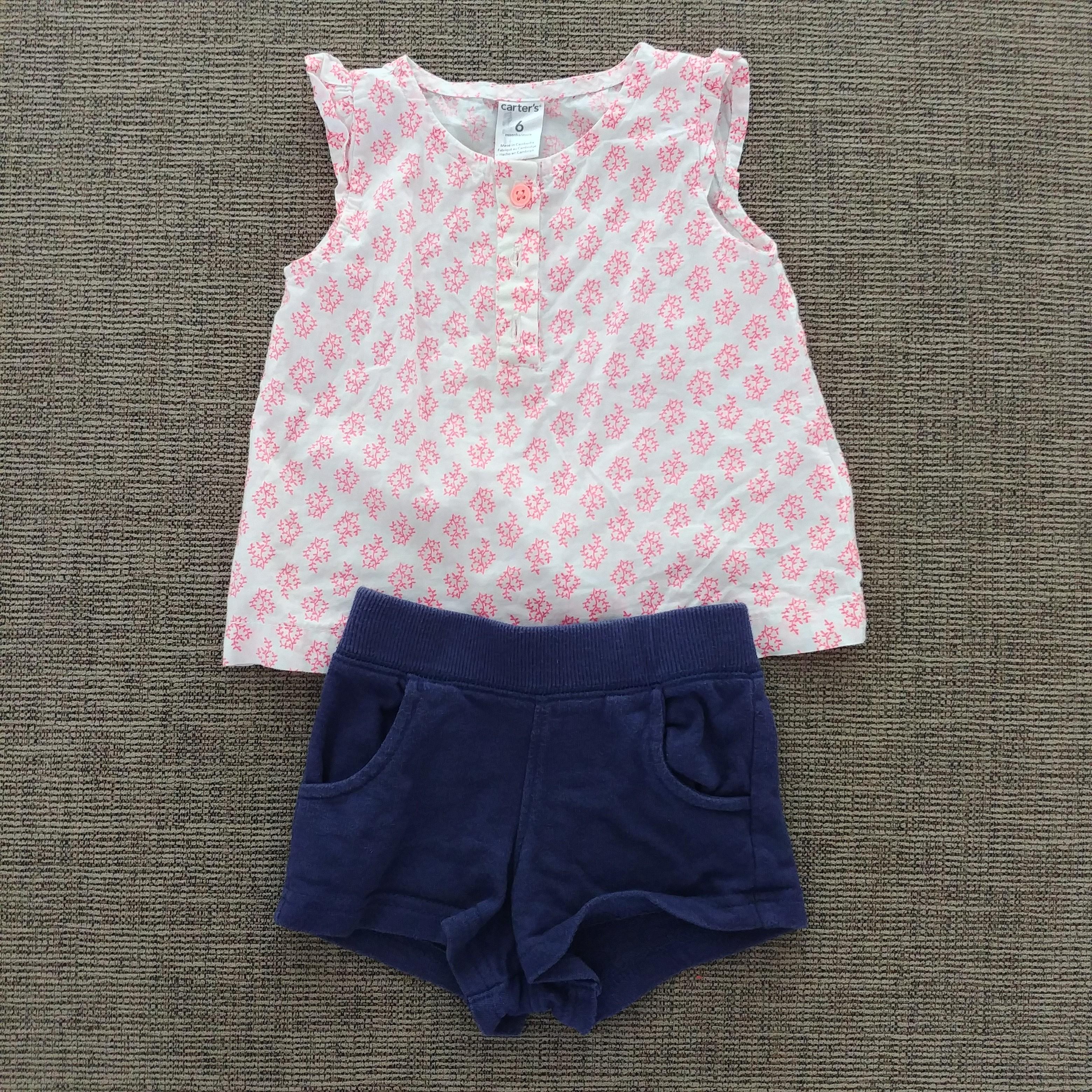 d73c3485659b Carter s Cotton Top and Shorts Set