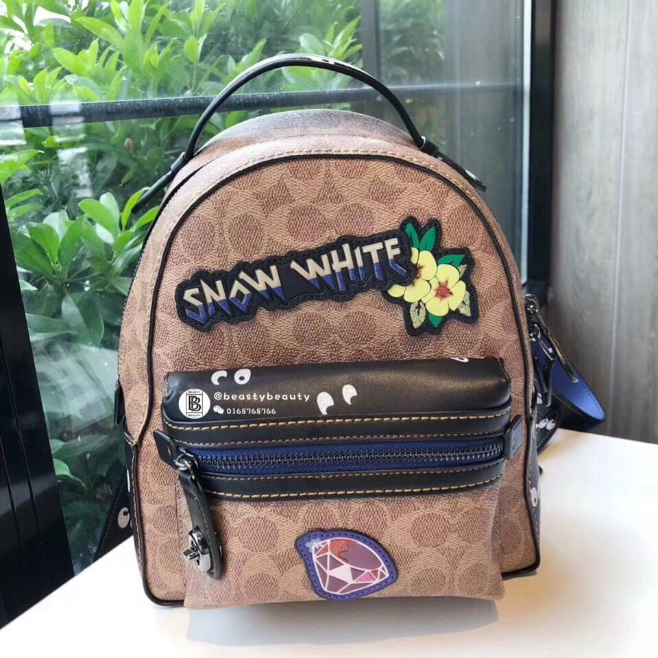 ea5dc15108b Coach X Disney campus Backpack 23 in Signature patchwork