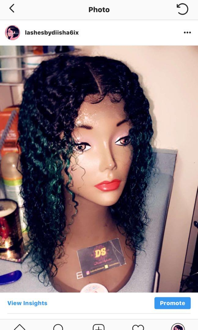 Deep curl - black and green