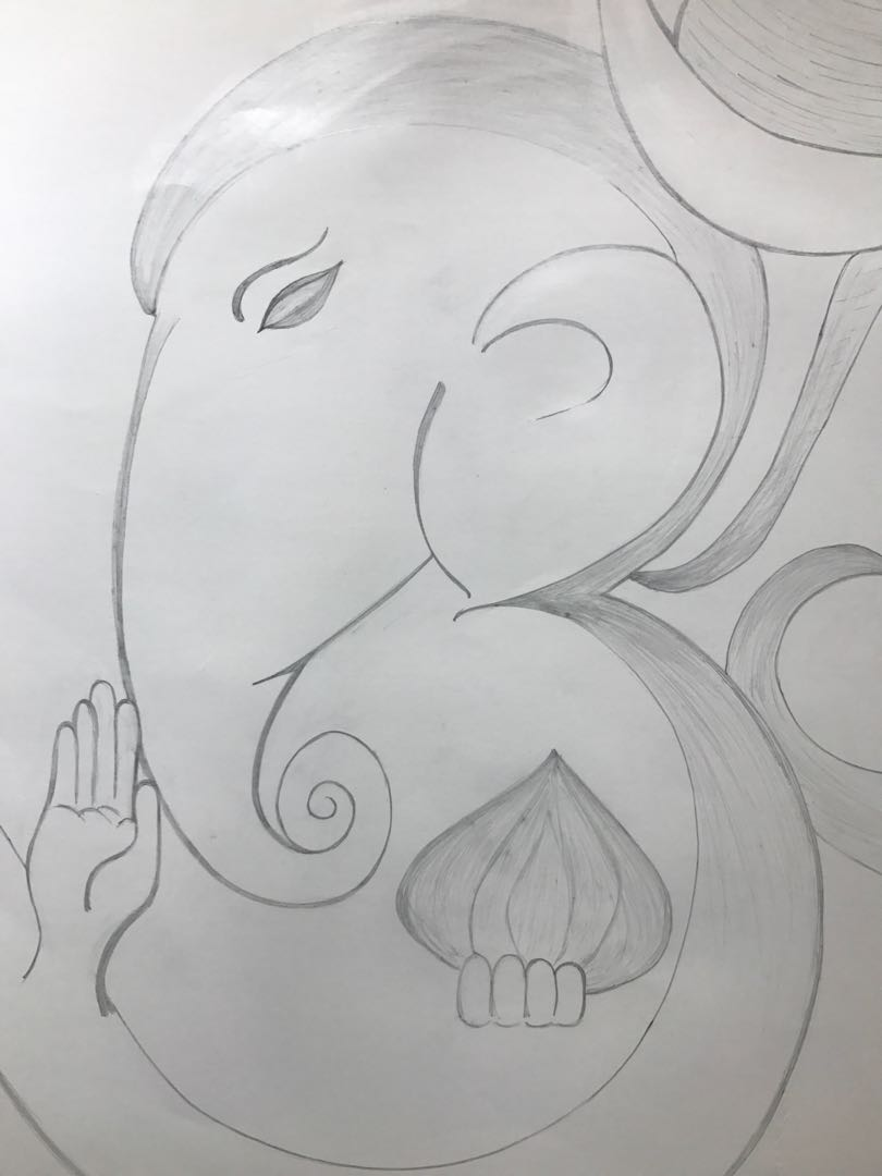 Ganesha sketch furniture home decor others on carousell