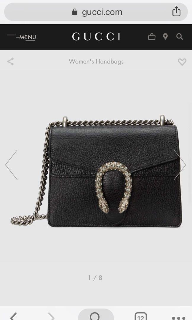 8b5c64aaf7d GUCCI Dionysus leather mini bag