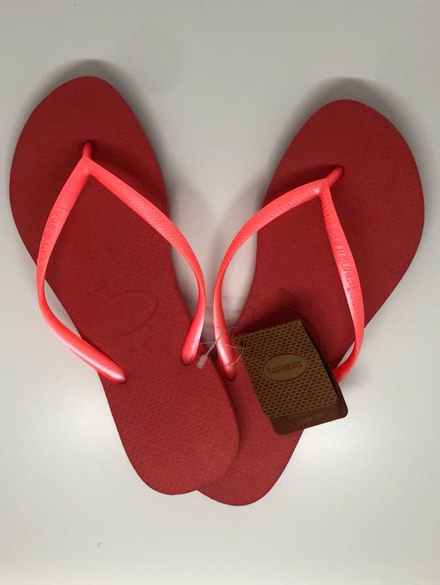 700476dcea64a Havaianas Slim Neon Orange Slippers