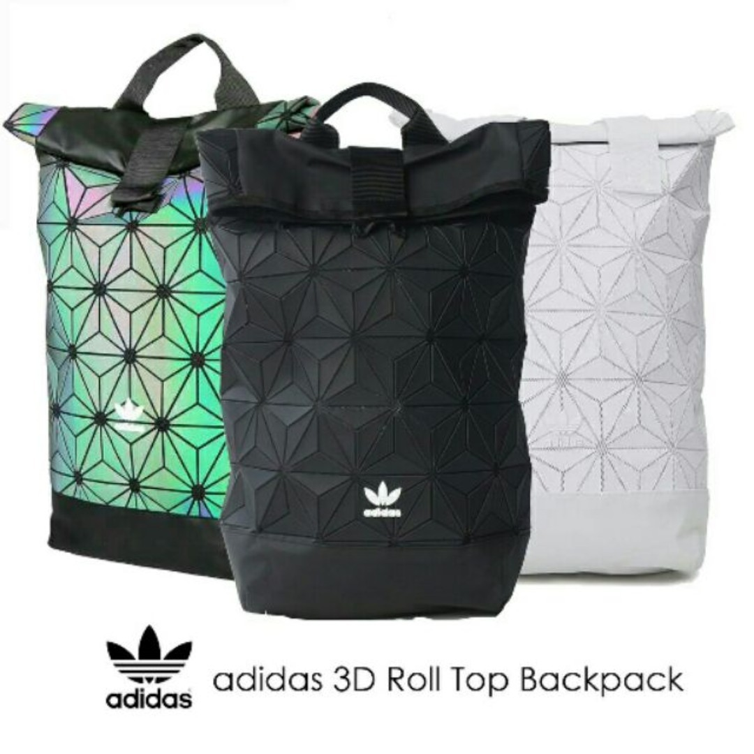 85f4f3a10a93 Instock Adidas x Issey Miyake 3D Roll Top Backpack - Full Black ...