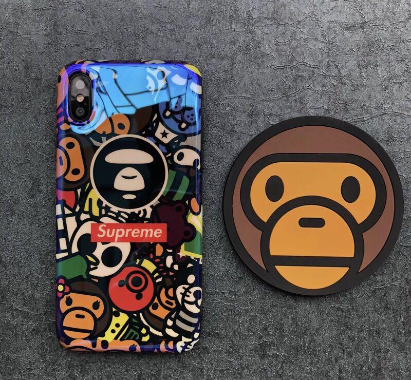 release date: 2f8de 87ddc iPhone X/XS/XR/XS MAX BAPE x Supreme Case
