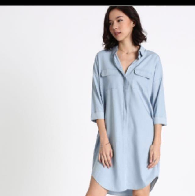 aacfe90836f Love Bonito Dinale Denim Shirt Dress not uniqlo
