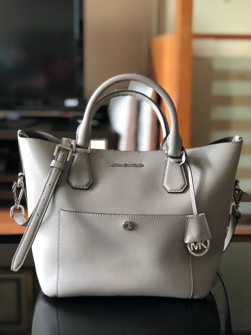 9bf89c05596ba1 Michael Kors Greenwich Saffiano Leather Satchel, Luxury, Bags ...