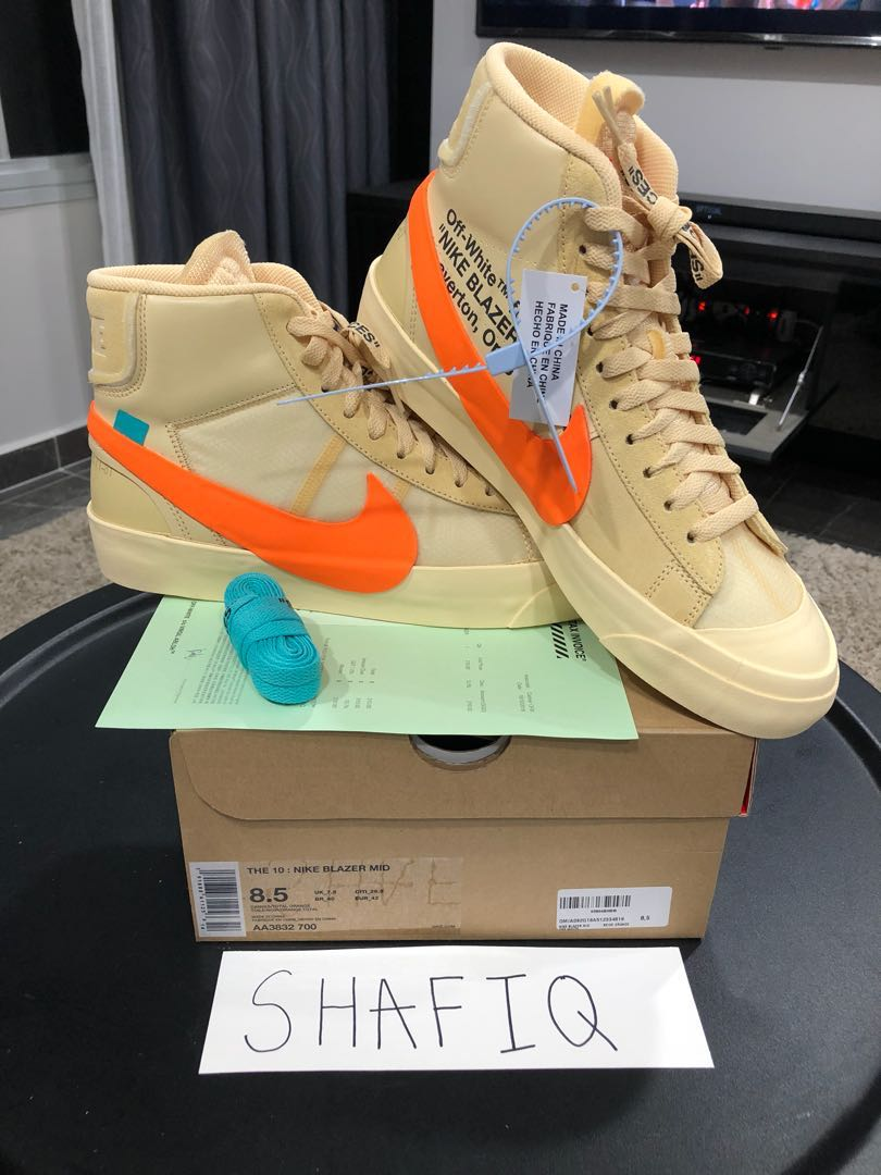 brand new 36a07 6360a Off White x Nike Blazer All Hallows' Eve, Men's Fashion, Footwear ...