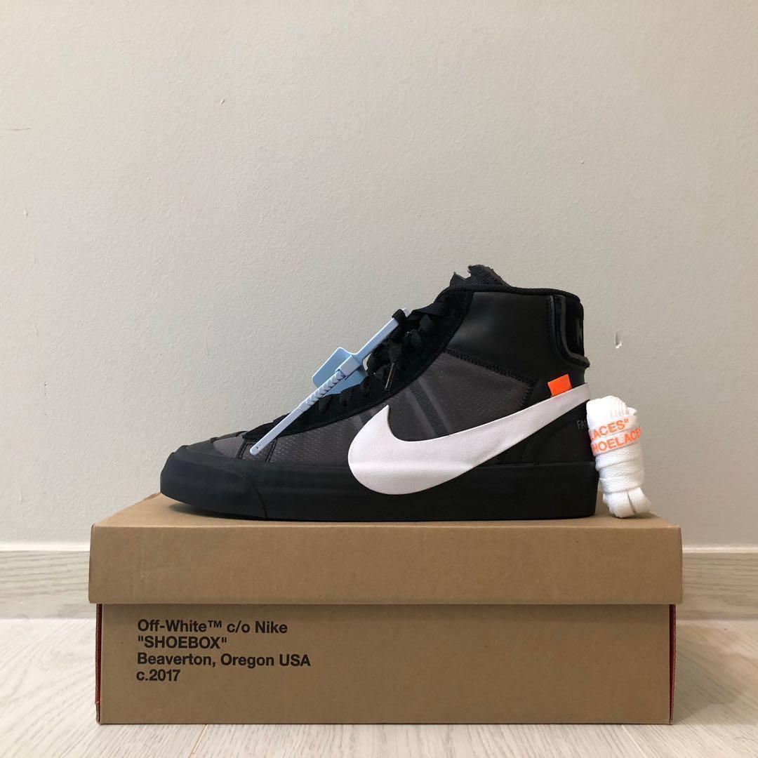 5c7edee167eb Off White x Nike Blazer Mid Grim Reaper Black