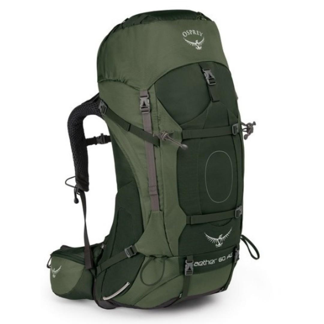 OSPREY AETHER AG 60 L ADIRONDACK GREEN MD hiking camping backpack 童軍 遠足 行山 露營 背囊 背包 登山包