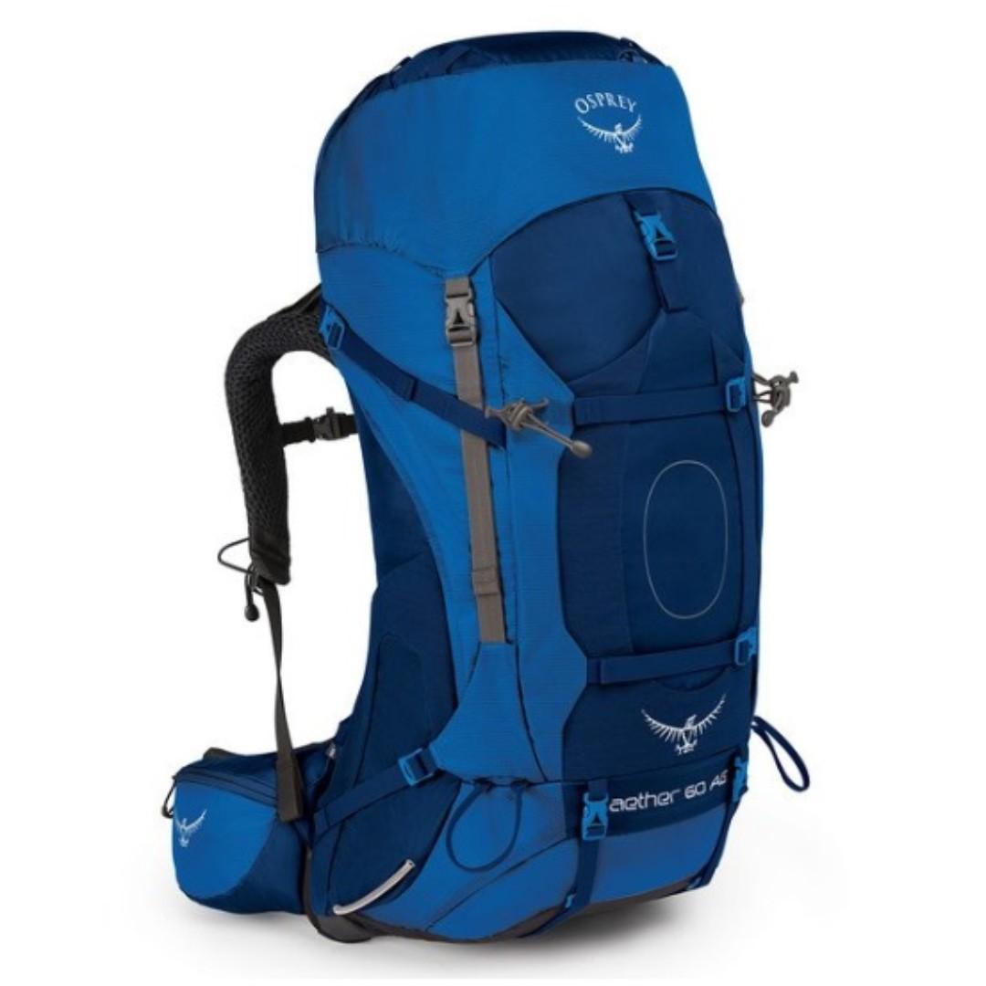 OSPREY AETHER AG 60 L NEPTUNE BLUE MD/ LG hiking camping backpack 童軍 遠足 行山 露營 背囊 背包 登山包