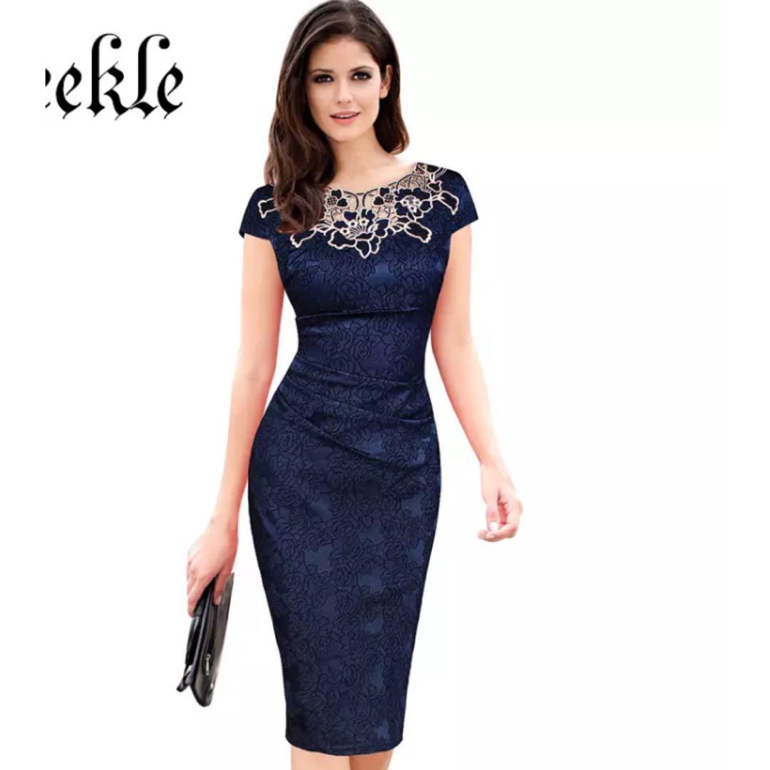 da4627a25d9f PO) S-XXXL Short Party Dress Elegant Embroidery Floral Big Plus Size ...