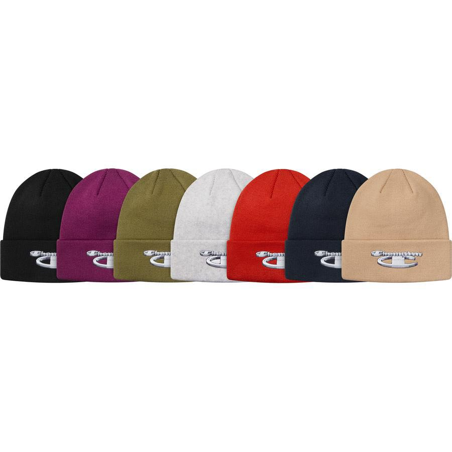 8b91797984f6f SUPREME CHAMPION 3D METALLIC BEANIE