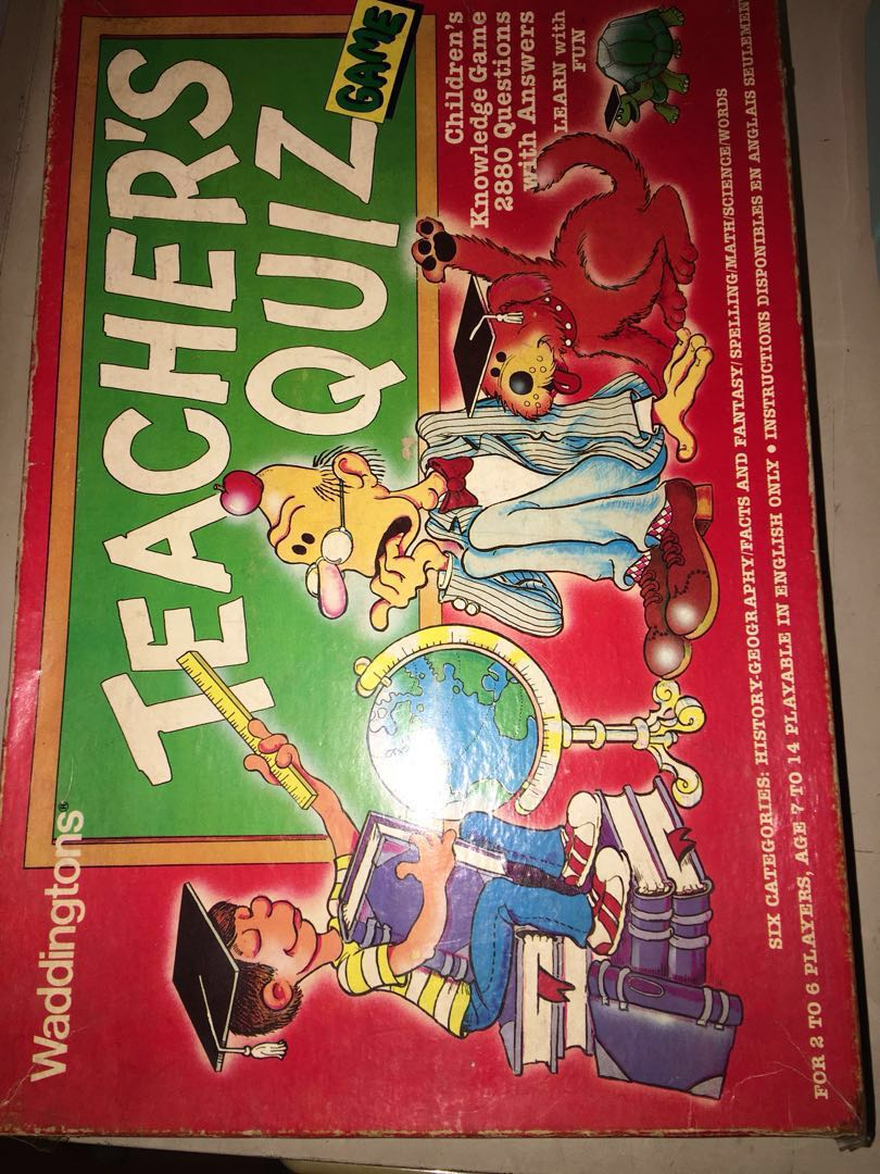 teacher s quiz game educational toys games board games cards
