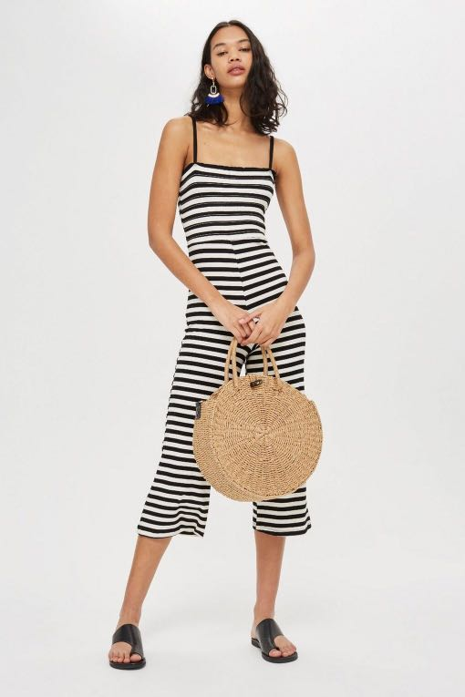 322315bf432a Topshop Shirred Striped Jumpsuit