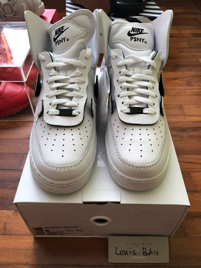 huge discount 1e425 f7030 US8.59 Nike Air Force 1 High X PSNY (White), Mens Fashion, Footwear,  Sneakers on Carousell
