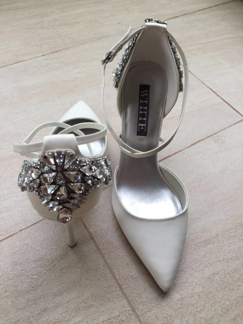 44099e92f06 White by Vera Wang wedding heels