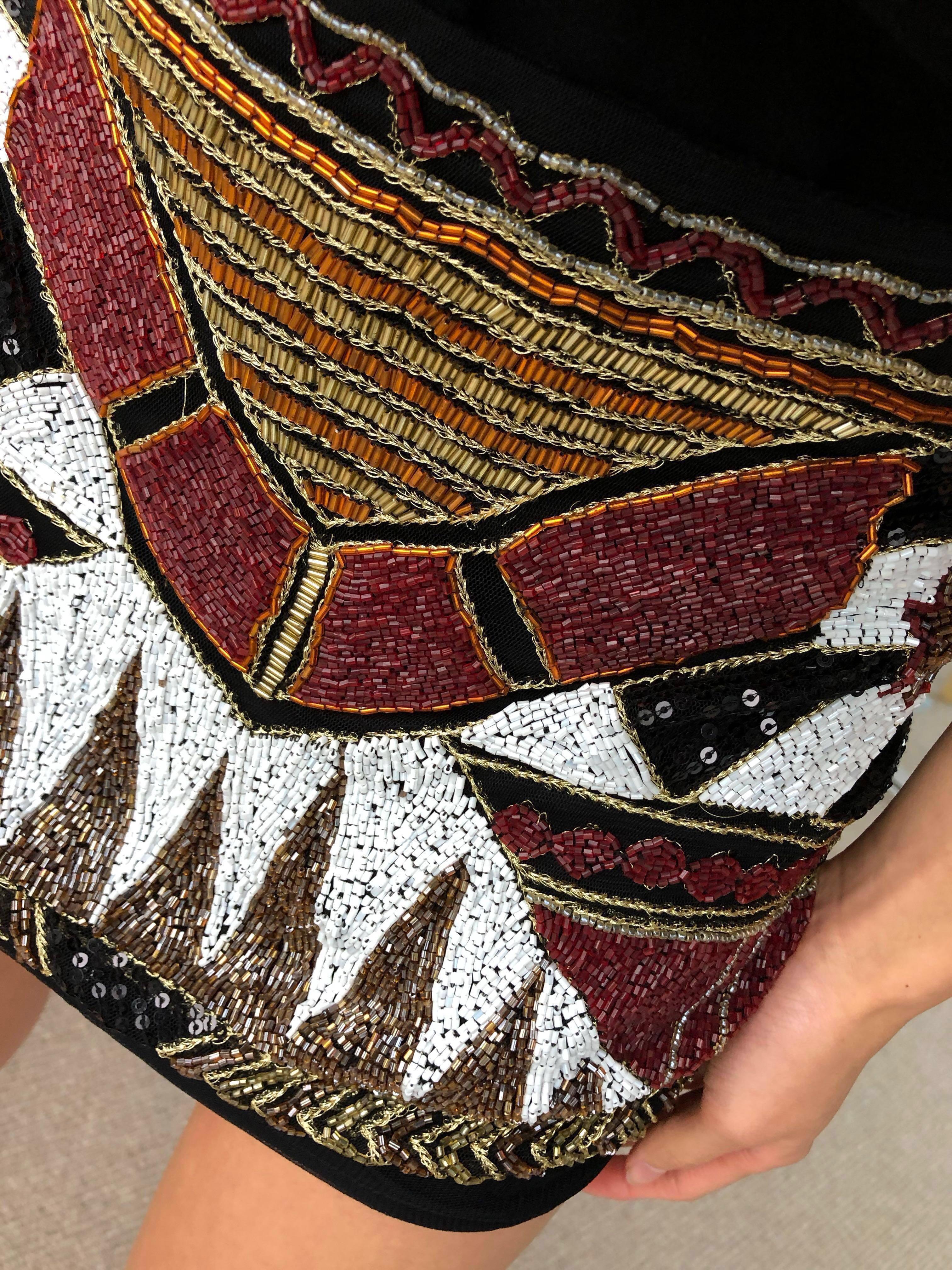 Zara Sequins Black Mini Skirt