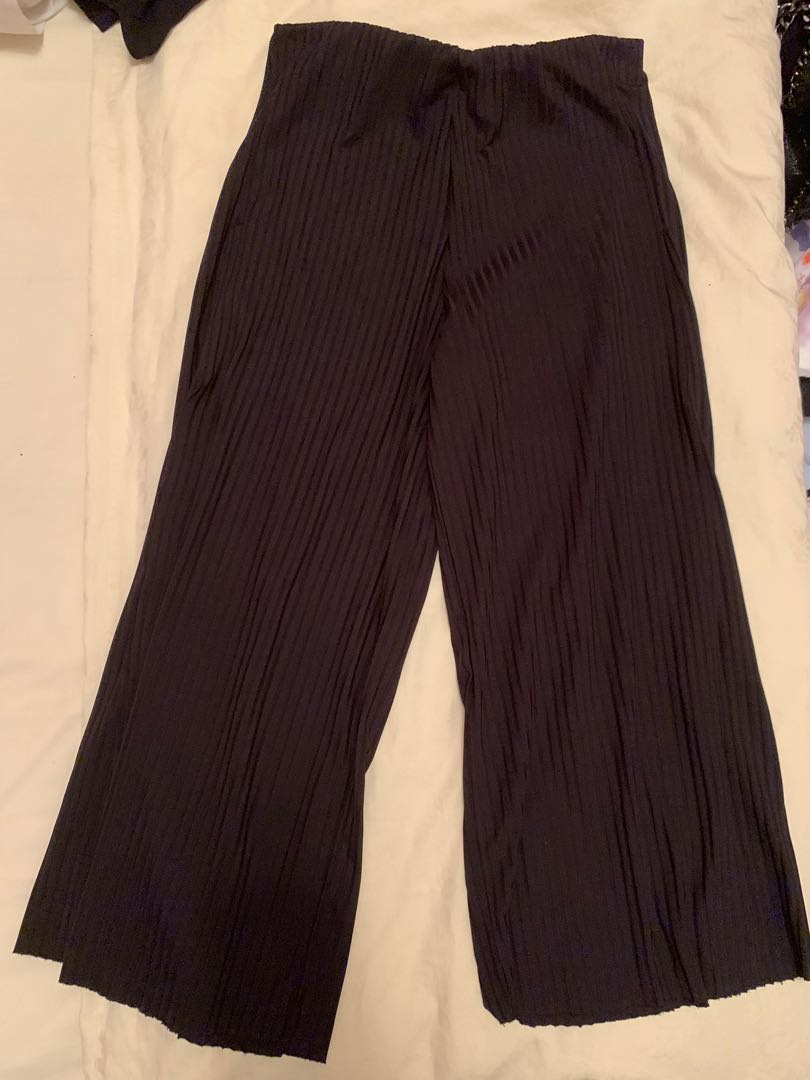 085e1955 Zara Stripey Culottes with Slits at Sides, Women's Fashion, Clothes ...