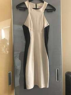 ASOS off white black dress
