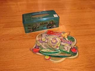 迪士尼Disney Toy Story Buzz Lightyear巴斯光年mouse pad及紙巾盒