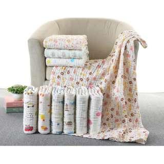 100%Cotton 6 layered Muslin Gauze Towel★Baby towel★Bath Towel★Super Absorbent★Baby Shower Gift Idea