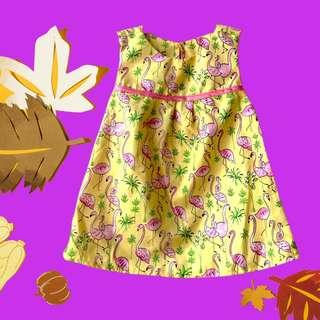 Dress Anak motif Flamingo