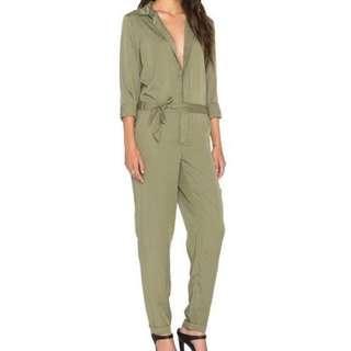 MINKPINK green long sleeve jumpsuit XS
