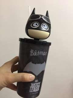 Batman 杯 全新欠盒 ( 膠質料 ,杯高約15 cm未度公仔頭。)