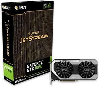 Palit gtx 1060 6gb Super Jetstream GPU gtx1060 6GDDR5