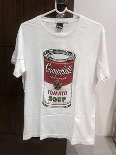 UNIQLO ANDY WARHOL CAMPBELL SOUP GRAPHIC TEE