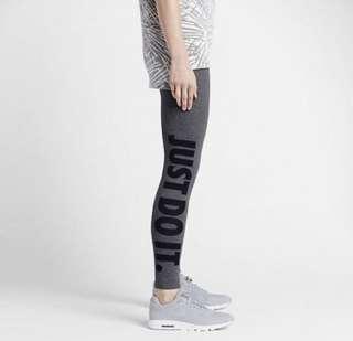 Nike just do it 女版灰色內搭褲#L號