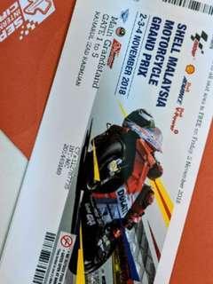 Sepang MotoGP Grandstand ticket