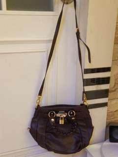 Samantha Thavasa Brown Color Leather Handbag 90%New