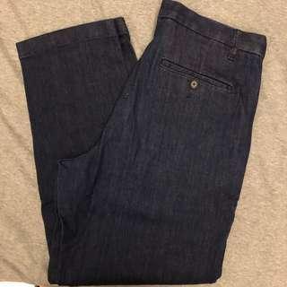 寬版 牛仔長褲