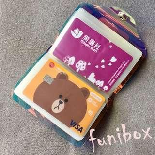 *funibox*簡約大容量PVC透明鐳射卡包 卡片夾/信用卡 提款卡 悠遊卡 購物卡 證件 名片夾
