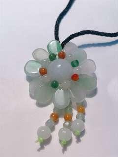 🚚 花朵項鏈 天然緬甸翡翠A貨