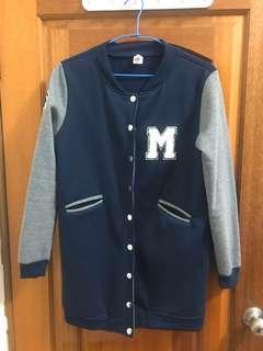 韓版內刷毛棒球外套#XL