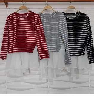 Stripes tops with flare